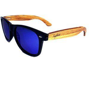 Zebrawood Sunglasses with Blue Polarized Lenses
